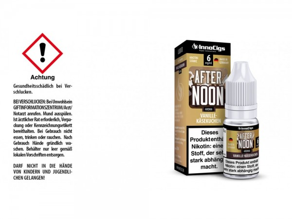 Afternoon Vanille-Käsekuchen Aroma - Liquid für E-Zigaretten 6 mg/ml 10er Packung