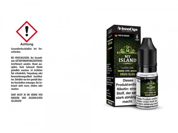 My Island Virgin Colada Aroma - Liquid für E-Zigaretten 6 mg/ml 10er Packung