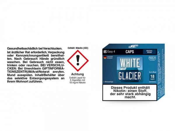SC Easy 4 Caps White Glacier Fresh 18 mg/ml (2 Stück pro Packung) 5er Packung