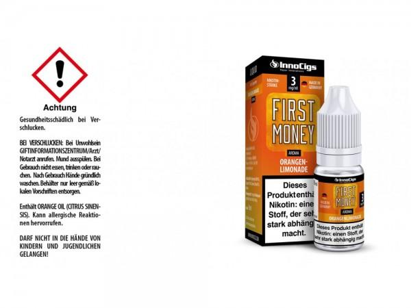 First Money Orangenlimonade Aroma - Liquid für E-Zigaretten 3 mg/ml 10er Packung