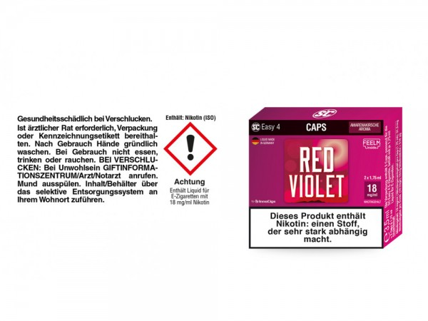 SC Easy 4 Caps Red Violet Amarenakirsche 18 mg/ml (2 Stück pro Packung)