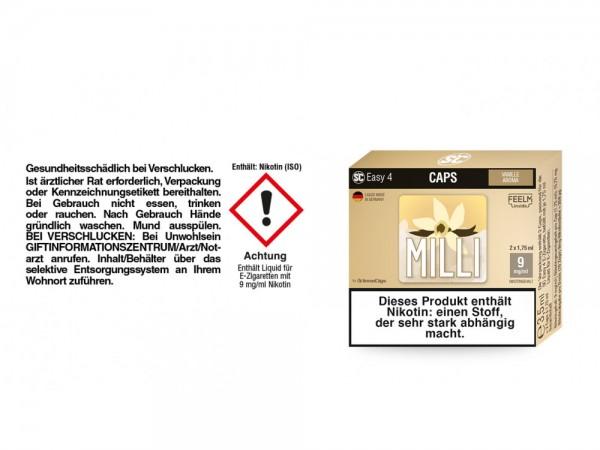 SC Easy 4 Caps Milli Vanille 9 mg/ml (2 Stück pro Packung) 5er Packung