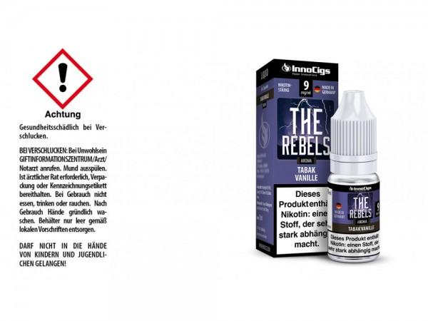 The Rebels Tabak Vanille Aroma - Liquid für E-Zigaretten 9 mg/ml 10er Packung