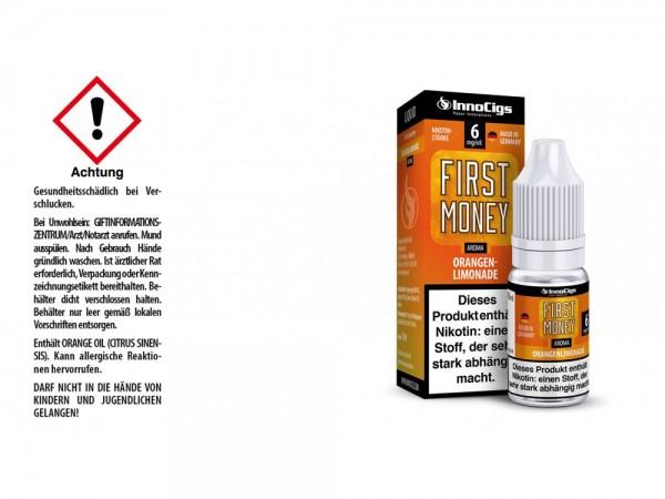 First Money Orangenlimonade Aroma - Liquid für E-Zigaretten 6 mg/ml 10er Packung
