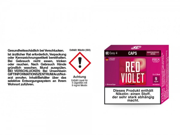 SC Easy 4 Caps Red Violet Amarenakirsche 9 mg/ml (2 Stück pro Packung)