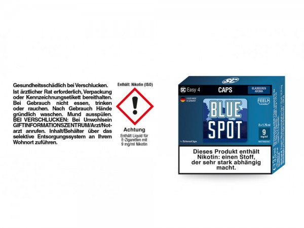 SC Easy 4 Caps Blue Spot Blaubeeren 9 mg/ml (2 Stück pro Packung) 5er Packung