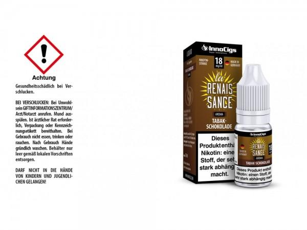 La Renaissance Tabak-Schokoladen Aroma - Liquid für E-Zigaretten 18 mg/ml 10er Packung