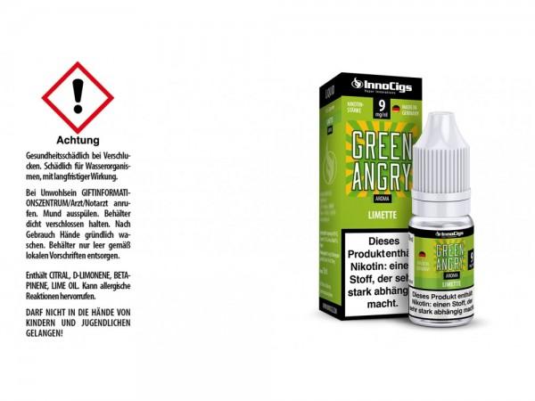 Green Angry Limetten Aroma - Liquid für E-Zigaretten 9 mg/ml 10er Packung