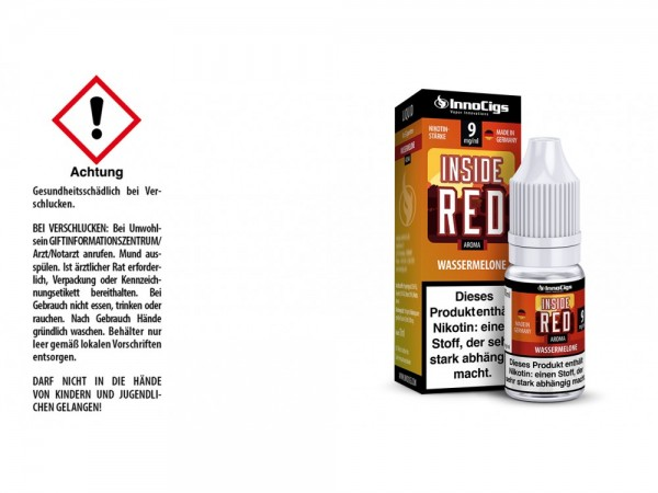 Inside Red Wassermelonen Aroma - Liquid für E-Zigaretten 9 mg/ml