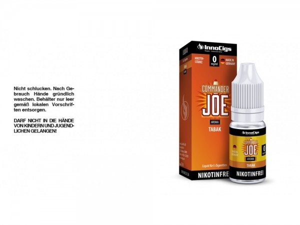 Commander Joe Tabak Aroma - Liquid für E-Zigaretten 0 mg/ml