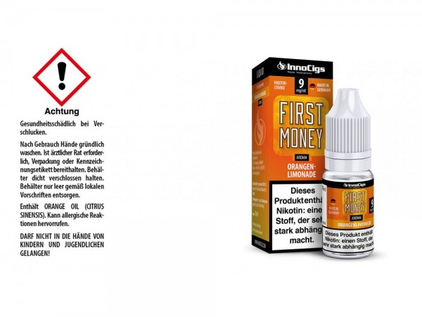 First Money Orangenlimonade Aroma - Liquid für E-Zigaretten 9 mg/ml