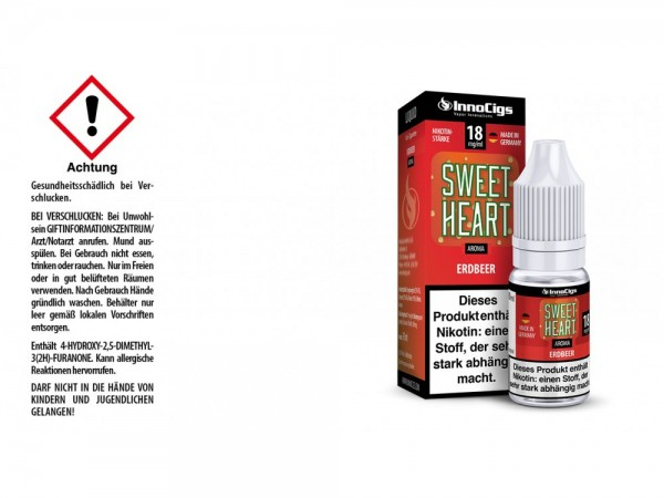 Sweetheart Erdbeer Aroma - Liquid für E-Zigaretten 18 mg/ml 10er Packung