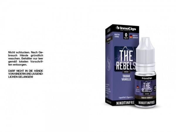 The Rebels Tabak Vanille Aroma - Liquid für E-Zigaretten 0 mg/ml 10er Packung