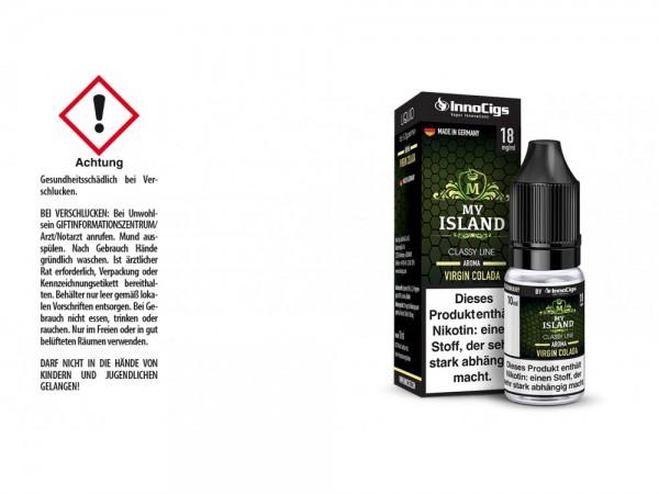 My Island Virgin Colada Aroma - Liquid für E-Zigaretten 18 mg/ml 10er Packung