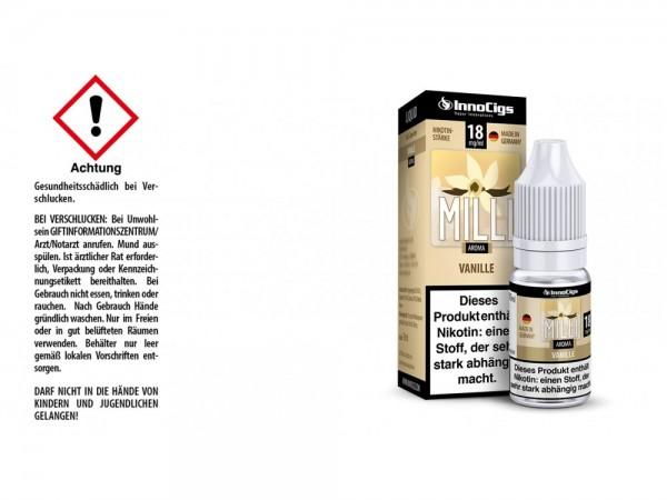 Milli Vanille Aroma - Liquid für E-Zigaretten 18 mg/ml 10er Packung