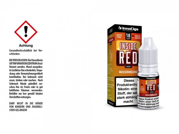 Inside Red Wassermelonen Aroma - Liquid für E-Zigaretten 18 mg/ml 10er Packung