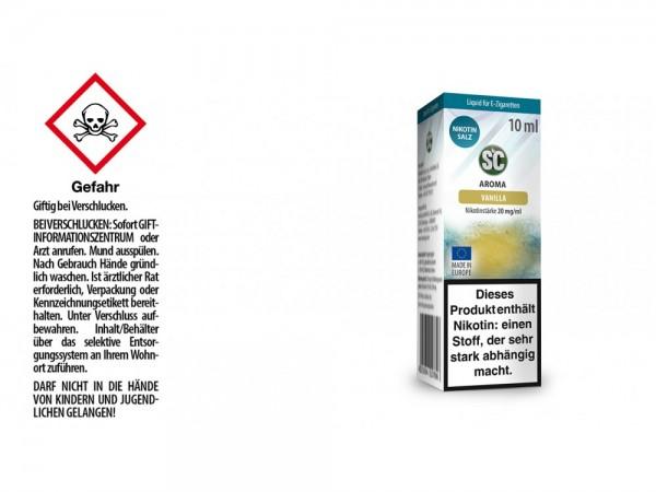 SC - Vanilla - E-Zigaretten Nikotinsalz Liquid 20 mg/ml 10er Packung