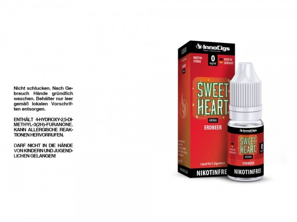 Sweetheart Erdbeer Aroma - Liquid für E-Zigaretten 0 mg/ml 10er Packung