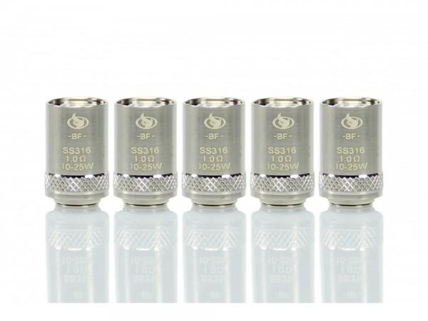 InnoCigs BF SS316 Heads 1,0 Ohm (5 Stück pro Packung)