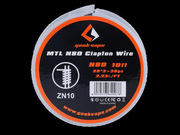 Geekvape N80 Clapton MTL Wickeldraht 5er Packung