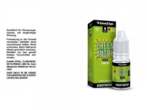 Green Angry Limetten Aroma - Liquid für E-Zigaretten 0 mg/ml 10er Packung