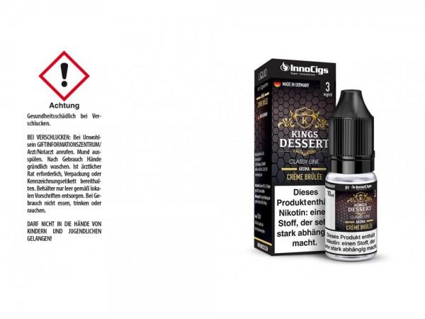 Kings Dessert Crème Brûlée Aroma - Liquid für E-Zigaretten 3 mg/ml 10er Packung