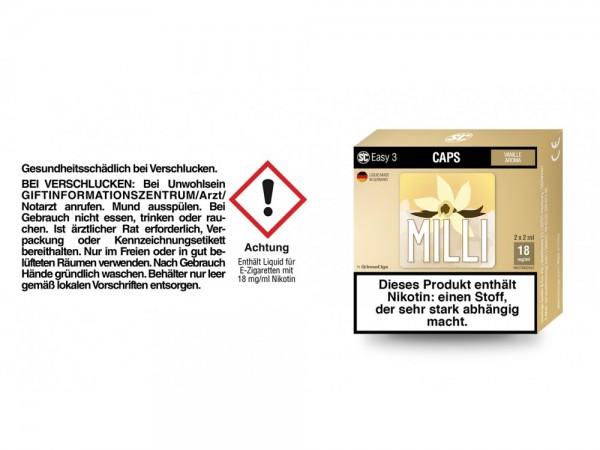 SC Easy 3 Caps Milli Vanille 18 mg/ml (2 Stück pro Packung) 5er Packung
