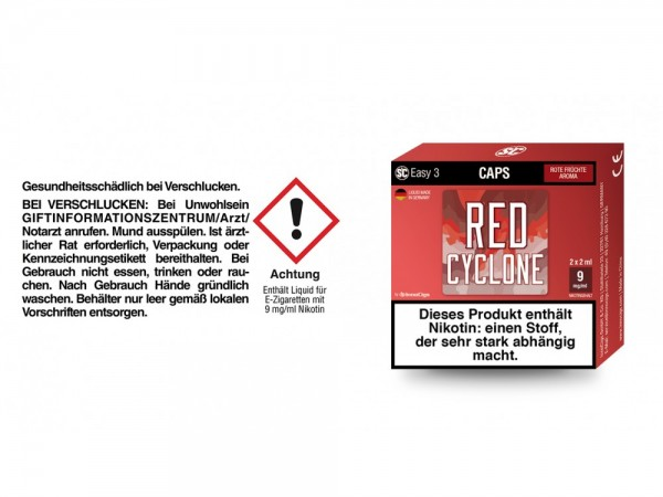 SC Easy 3 Caps Red Cyclone Rote Früchte 9 mg/ml (2 Stück pro Packung) 5er Packung