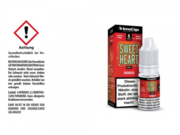 Sweetheart Erdbeer Aroma - Liquid für E-Zigaretten 6 mg/ml 10er Packung