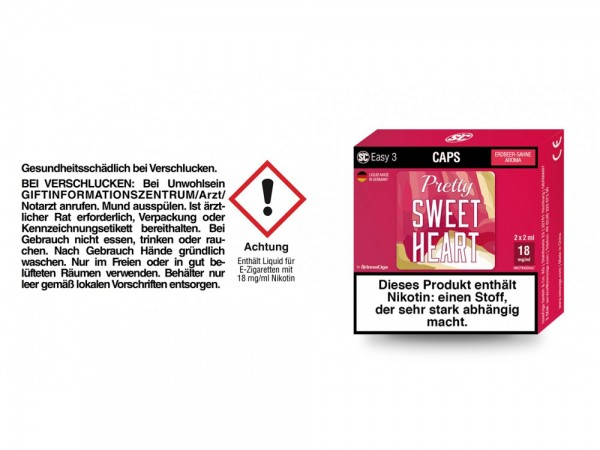 SC Easy 3 Caps Pretty Sweetheart Sahne-Erdbeere 18 mg/ml (2 Stück pro Packung) 5er Packung