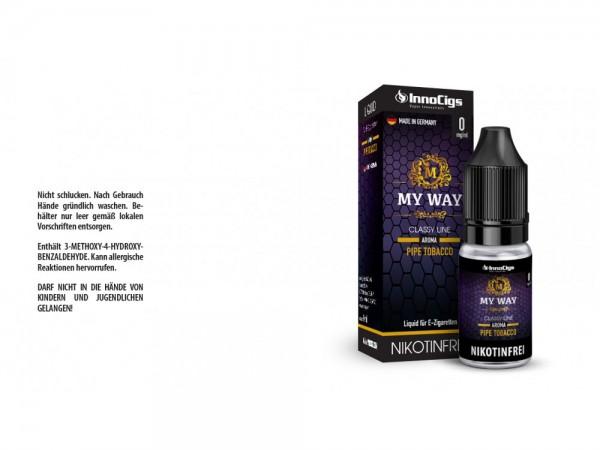 MyWay Pfeifentabak Aroma - Liquid für E-Zigaretten 0 mg/ml 10er Packung