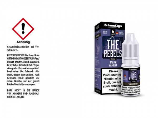 The Rebels Tabak Vanille Aroma - Liquid für E-Zigaretten 6 mg/ml