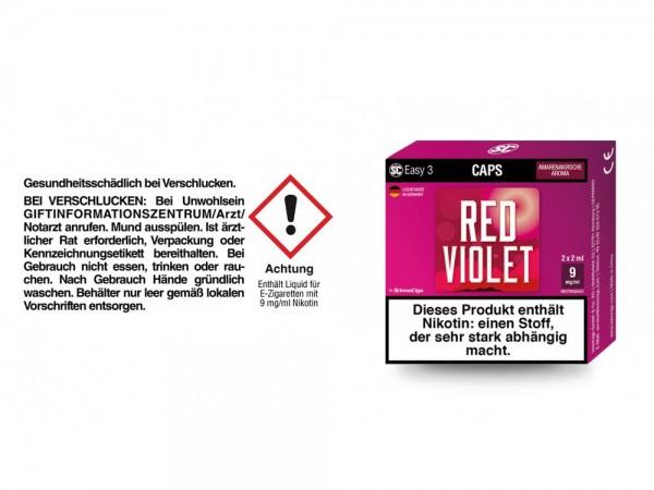 SC Easy 3 Caps Red Violet Amarenakirsche 9 mg/ml (2 Stück pro Packung) 5er Packung