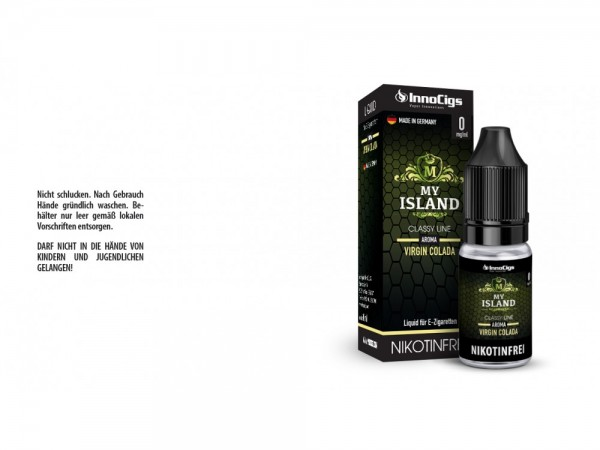 My Island Virgin Colada Aroma - Liquid für E-Zigaretten 0 mg/ml 10er Packung