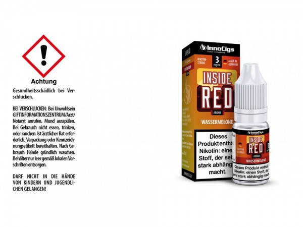 Inside Red Wassermelonen Aroma - Liquid für E-Zigaretten 3 mg/ml