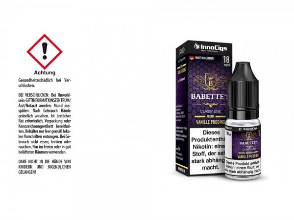 Babettes Vanille Pudding Aroma - Liquid für E-Zigaretten 18 mg/ml 10er Packung