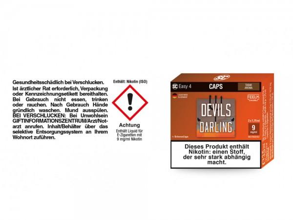 SC Easy 4 Caps Devils Darling Tabak 9 mg/ml (2 Stück pro Packung) 5er Packung