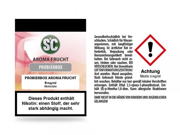 Fruit Probierbox E-Zigaretten Liquid 6 mg/ml 10er Packung