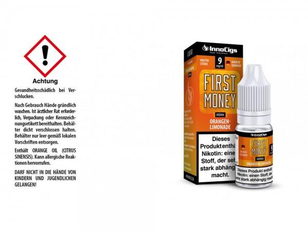 First Money Orangenlimonade Aroma - Liquid für E-Zigaretten 9 mg/ml 10er Packung