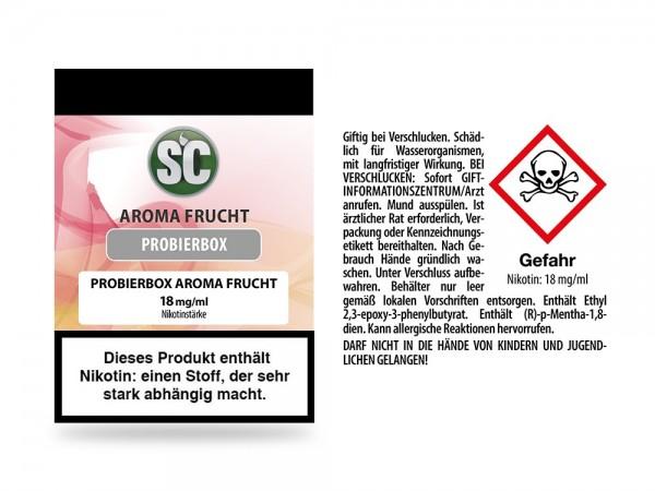 Fruit Probierbox E-Zigaretten Liquid 18 mg/ml 10er Packung