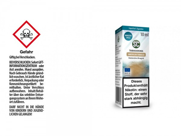 SC - American Tobacco - E-Zigaretten Nikotinsalz Liquid 20 mg/ml 10er Packung