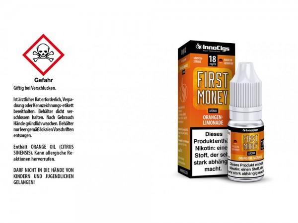 First Money Orangenlimonade Aroma - Liquid für E-Zigaretten 18 mg/ml 10er Packung