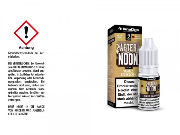 Afternoon Vanille-Käsekuchen Aroma - Liquid für E-Zigaretten 9 mg/ml