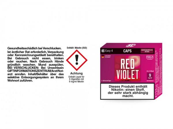 SC Easy 4 Caps Red Violet Amarenakirsche 9 mg/ml (2 Stück pro Packung) 5er Packung