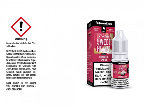 Pretty Sweetheart Sahne-Erdbeer Aroma - Liquid für E-Zigaretten 9 mg/ml 10er Packung